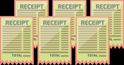 6 receipts